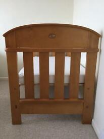 Cot Bed & matching chest of drawers