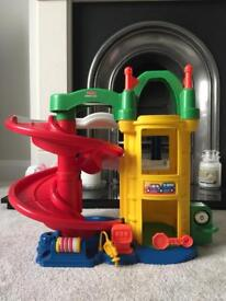 Fisher-Price Little People Racin' Ramps Garage.
