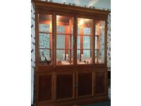 Dining room furniture. Table and 6 chairs. Display cabinet. Small cabinet.