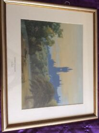 University of Glasgow / Tom Campbell framed print / Lithograph