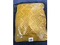 New in bag - mustard colour cellular blanket for bed
