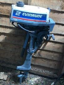 2hp outboard Evinrude for parts or repair