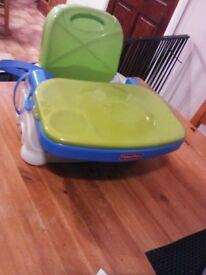 Fisher Price Child's Booster Seat with Removable Double Trays in as new condition