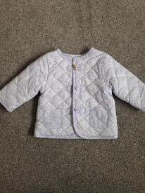 John Lewis quilted jacket, newborn