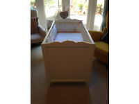 Very nice Ikea Hensvik Cot - White - 120X60cm and...