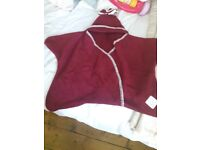 Red Baby star snuggle suit
