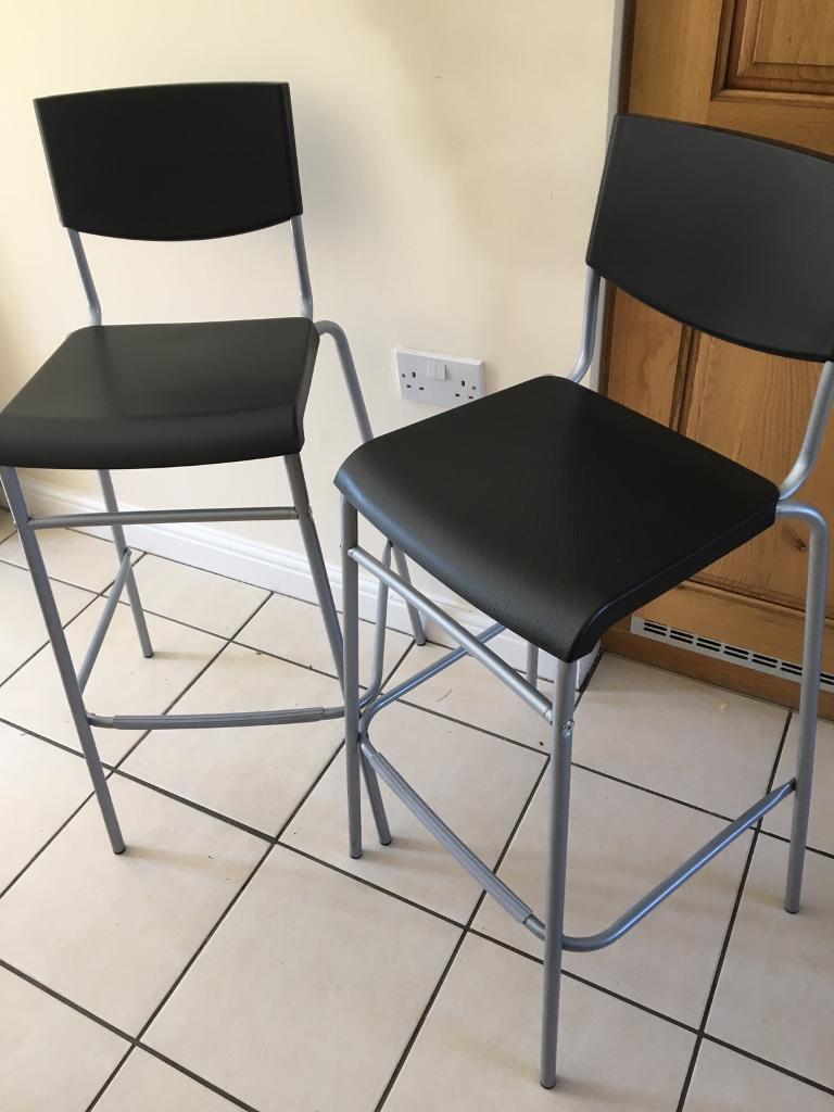 2 x black kitchen breakfast bar stools   in Bracknell ...