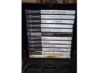 Various collection of PS2 Games plus storage box..