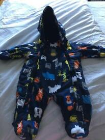 Baby boy snowsuit 0-3mth