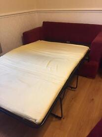 Burgundy sofa bed