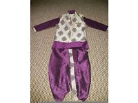 new traditional boys 3 piece purple dress 3 to 4 yrs