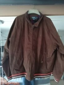 mens Ralph Lauren faux suede harrington jacket xl