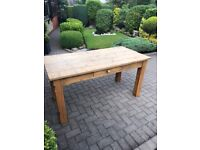 Solid wooded dinning table 4 x chairs and table