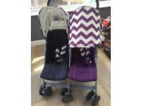 Double stroller pushchair