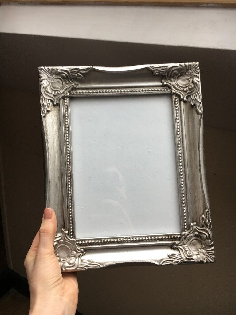 Silver shabby chic picture frames x 8 wedding centerpieces silver shabby chic picture frames x 8 wedding centerpiecesgallery wall jeuxipadfo Choice Image