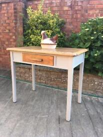 Hand painted vintage hallway/kitchen table, bargain free delivery