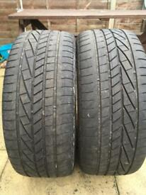 245 40 20 goodyear runflat tyres pair