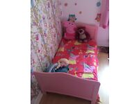 Toddler bed with mattress immaculate condition