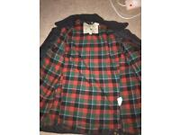 Jack wills wax jacket with fur inside size 10