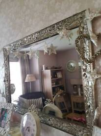Gold over mantle mirror