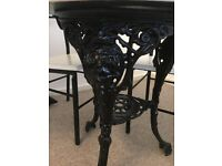 French chic cast iron Victorian two seater dining table