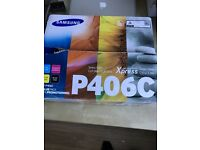 BRAND NEW SAMSUNG P406C VALUE PACK TONER FOR SAMSUNG COLOUR LASER PRINTERS