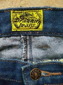 "'Draggin' Kevlar Motorcycle Jeans 36"""