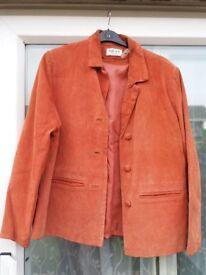 orange suede ladies jacket