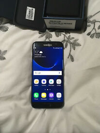 Samsung s7 edge black, 32gb, fully boxed, mint condition, unlocked to any network