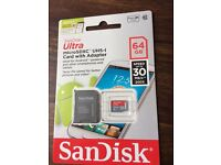 San Disk Ultra microSDXC UHS-1 Card with Adapter