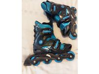 No fear childrens in-line skates roller blades. Extend from size 1 to 4