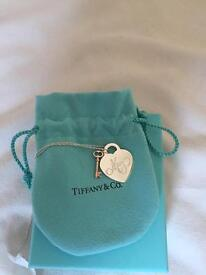 Genuine Tiffany & Co. Necklace Sterling Silver (Heart tag and Rubedo key)
