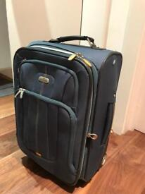 Small suitcase blue, 2 wheels