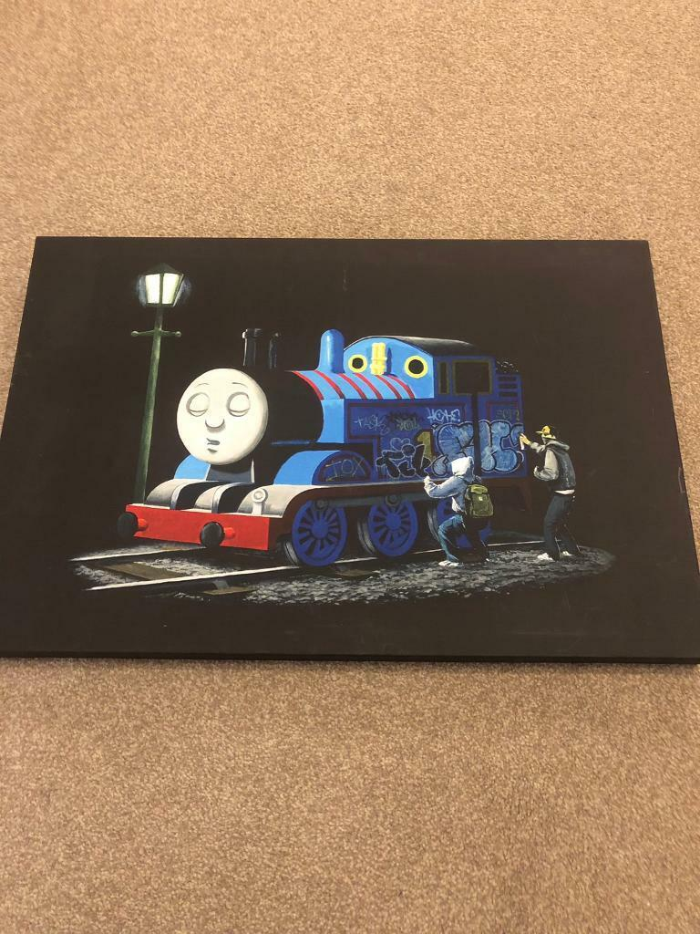 BANKSY THOMAS THE TANK ENGINE LARGE WALL ART POSTER PICTURE STREET ART