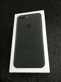 iPhone 7+ on EE black immaculate condition