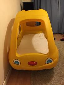 Step2 yellow car toddler bed snooze n cruise