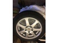 Alloy wheels and winter tyres set of 4