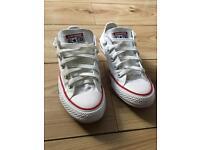 Converse size 4 white