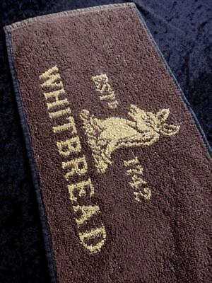 VINTAGE British PUB 1980s WHITBREAD BEER Bar Towel RUNNER MAT FREE POST VGC