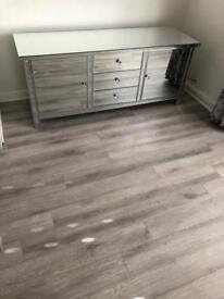 Tv unit ,sideboard , mirrored furniture