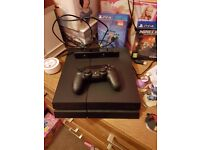Playstation 4 with accessories and Infinity 1+minecraft
