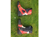 IXS leather sport motorcycle boots size 10.5