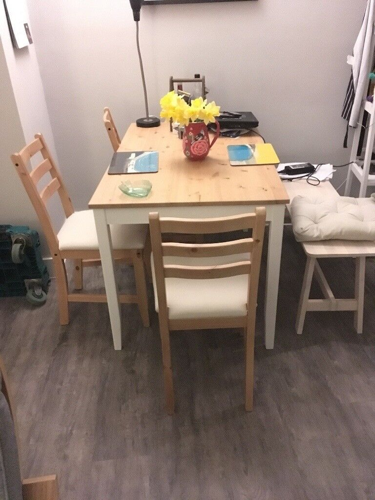 Dining Table Bench And Chair Set IKEA NEARLY NEW