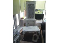 SHABBY CHIC CORNER UNIT AND COFFEE TABLE