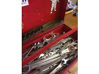 Vintage motorbike imperial tools