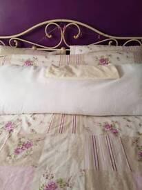 Bolster and pillow case colour cream
