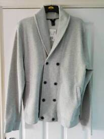 Brand new H&M Men's XL double breasted cardigan