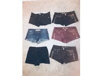 Set of Six short shorts (small size6/8)
