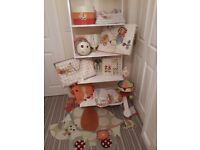 Mamas and Papas Jamboree nursery decor set. Cot bumpers and bedding set new in packet.