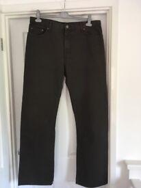 Men's Blue Harbour Jeans Size 36 / 33 Colour Brown